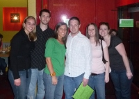 (From L to R) Rachael, Nate, Sarah, Shane (Sarah's fiance!), Tamara, and Jenna
