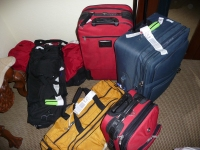 Just imagine the two of us lugging all this to the airport.  Thanks, Betsy, for dropping us off at the door!